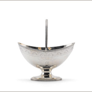 A George III silver swing-handled sugar basket, by Robert Hennell, London 1793,  (4)