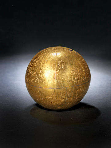 A rare and unique Zand silver-gilt Celestial Globe Persia, dated AH 1190/ AD 1776