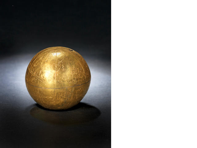 A rare and unique Safavid gilded celestial Globe Iran, dated 1190AH/1776AD