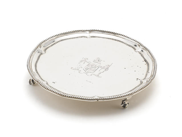 A George III silver waiter London 1775/6