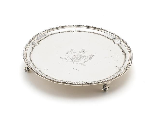 A George III silver waiter London 1775/6