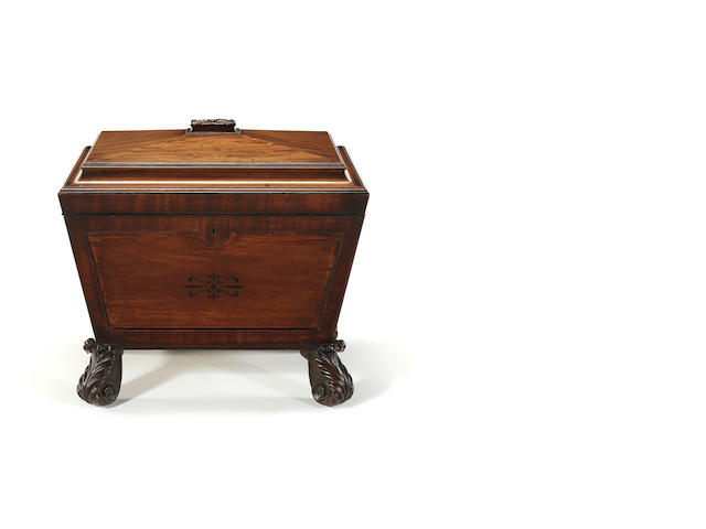 A Regency mahogany cellarette