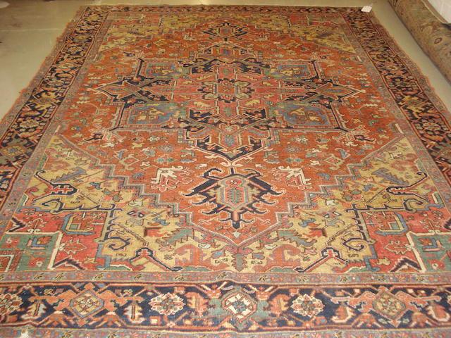A Heriz carpet, North West Persia, 330cm x 252cm