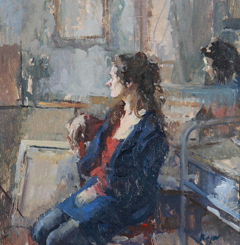 Peter Kuhfeld (British, born 1952) 'Interior, morning'