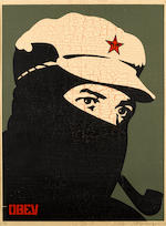 Shepard Fairey (b.1970) Comandante 1, 2, 3 and 4 Signed, dated 2002 and inscribed AP, also signed, d