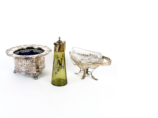 A 19th century plated wine cooler