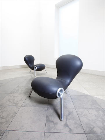 Marc Newson for Idee An Embryo Chair designed in 1988  steel, aluminium and neoprene Height: 79 cm.         31 1/8 in.