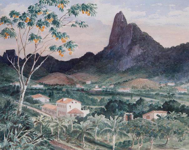 Emeric Essex Vidal (British, 1791-1861) View of the Corcovado, Rio de Janeiro, Brazil