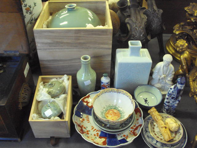 A group of Chinese and other Asian ceramics and works of art