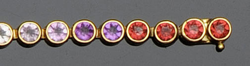 A multi gem set bracelet