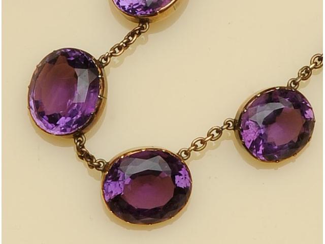 A Victorian amethyst rivière necklace