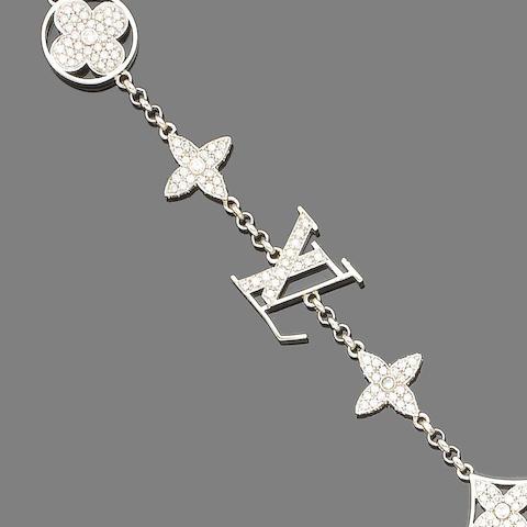 A diamond-set bracelet, by Louis Vuitton