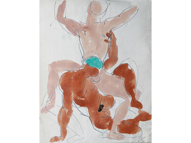 Duncan Grant (British, 1885-1978) Homo-erotic sketch