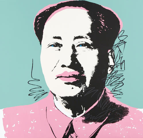 After Andy Warhol (American, 1928-1987) Mao The complete set of 10 screenprints in colours, on stiff wove, each with the Sunday B. Morning stamp verso, the full sheets, each 915 x 915mm (36 x 36in)(SH)(unframed)