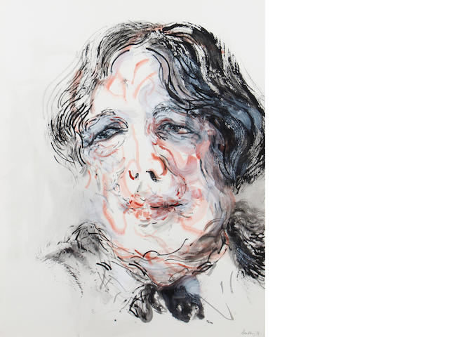 Maggi Hambling (British, born 1945) Portrait of Oscar Wilde