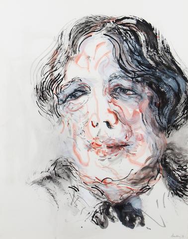 Maggi Hambling (British, born 1945) Portrait of Oscar Wilde