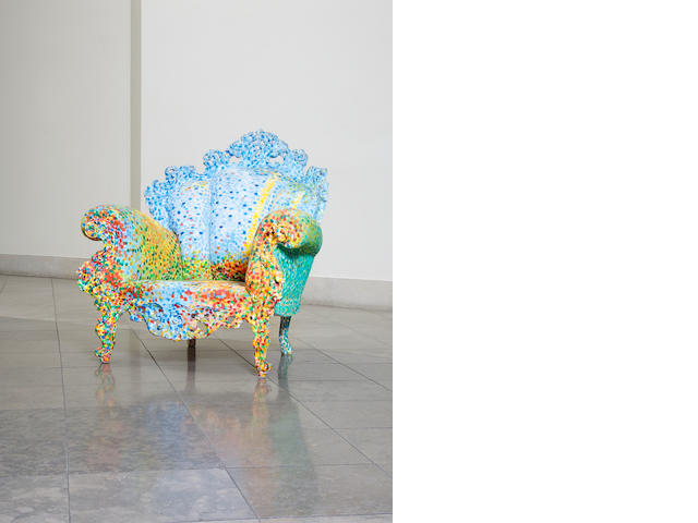 Alessandro Mendini for Studio Alchymia, 'Proust's Armchair', designed and executed circa 1978 hand painted decoration to readymade chair 107 cm.