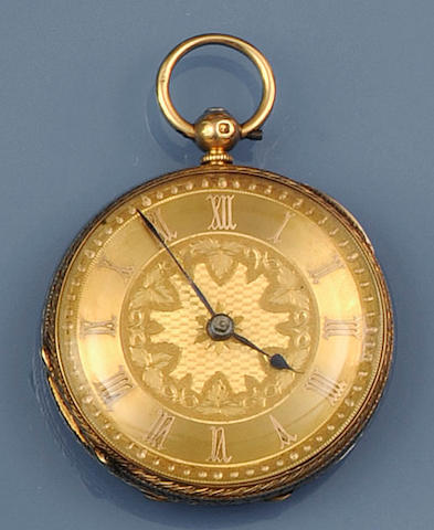 An 18ct gold open face pocket watch by N Price