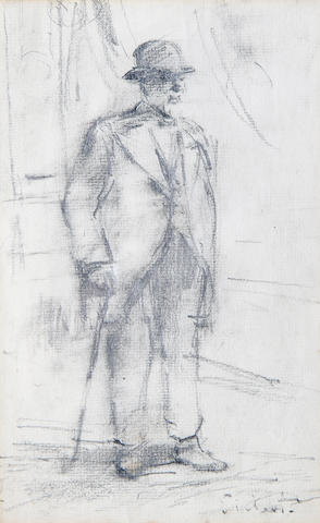 Walter Richard Sickert A.R.A. (British, 1860-1942) Tristan Bernard 23 x 15 cm. (9 x 6 in.)