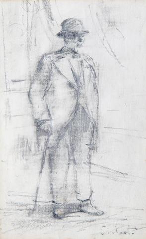 Walter Richard Sickert A.R.A. (British, 1860-1942) Tristan Bernard 23 x 15 cm. (9 x 6 in.)