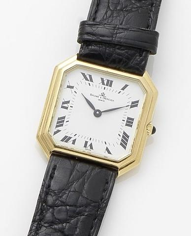 Baume & Mercier. An 18ct gold manual wind wristwatch1990's
