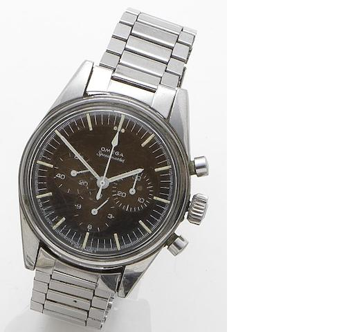 Omega. A stainless steel manual wind chronograph bracelet watchSpeedmaster, Case No.ST 105003-65, Movement No.25443747, Circa 1966