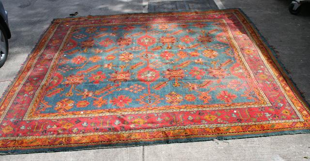 An Ushak Carpet 315cm square.