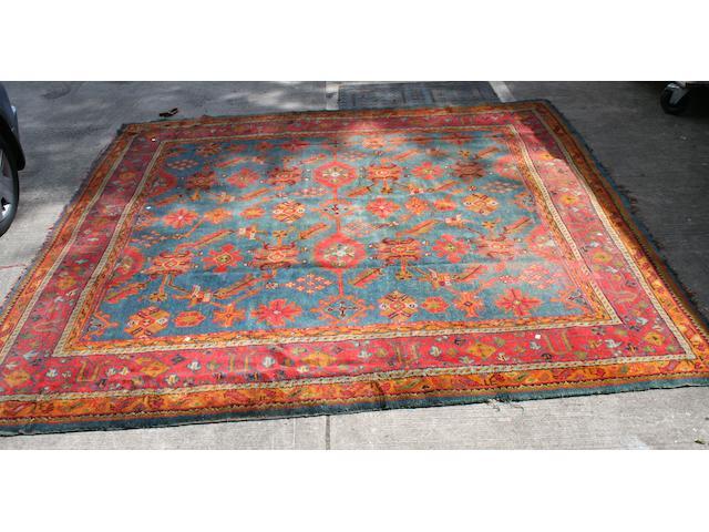 An Ushak Carpet 315cm square.