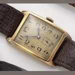 Rolex. An 18ct gold manual wind wristwatch Glasgow import mark for 1926