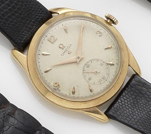 Omega. An 18ct gold manual wind wristwatchRef:2619, Case No.10987909, Movement No.12174049, 1950's