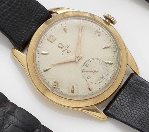 Omega. An 18ct gold manual wind wristwatchRef:2619, Case No.10987909, Movement No.12174049, Circa