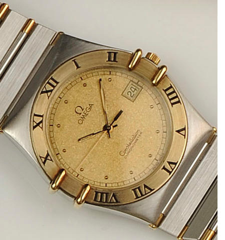 Omega: A Constellation stainless steel two tone mid sized quartz wristwatch