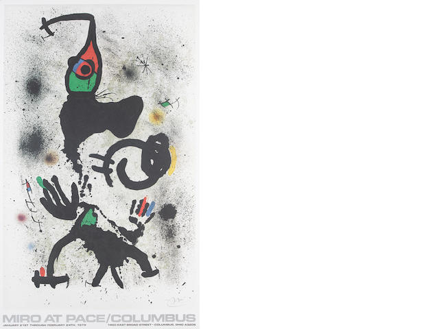 Various Artists A collection  Twenty lithographic exhibition posters printed in colours, including Joan Miro, Marc Chagall, Pablo Picasso, Max Ernst, 890 x 540mm (35 x 21 1/4in)(SH)(and smaller)(unframed)(20)
