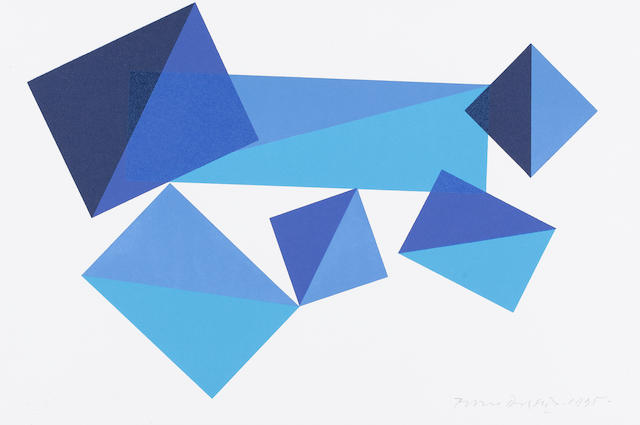 Piero Dorazio (Italian, 1927-2005) A collection  Four lithographs printed in colours, 1991-95, each signed, dated and numbered in penci, two with the Erker Presse, St. Gallen, Switzerland blindstamp, 240 x 360mm(9 1/2 x 14 1/4in)(SH)(and smaller)(unframed)(4)