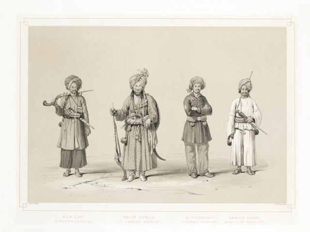 AFGHANISTAN HART (LOCKYER WILLIS) Aga Jan, Khohistan Rangers; and 2 other lithographs from the series, 1843 (3)