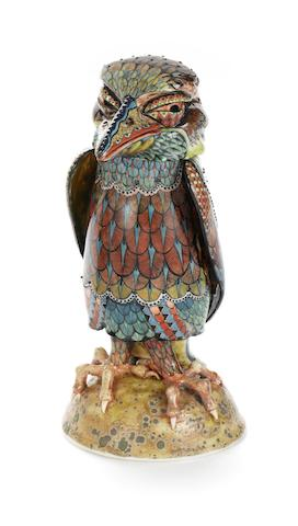 David Burnham Smith 'Bird Jar and Cover' a Painted Porcelain Model, 2011