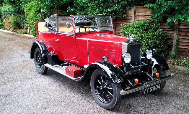 1931 Morris Cowley 11.9hp Tourer with Dickey  Chassis no. 356419 Engine no. 402657