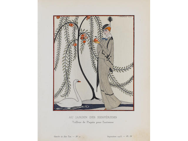 A Collection Gazette du Bonton Fifty pochoir plates by Barbier, Georges Lepape and others, c. 1920's, on laid various sizes; with a group of hors-texte plates in original wrappers (unframed) (50)