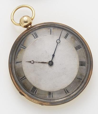 Vaucher Freres. A gilt metal open faced repeating pocket watchNo.11714, Circa 1860