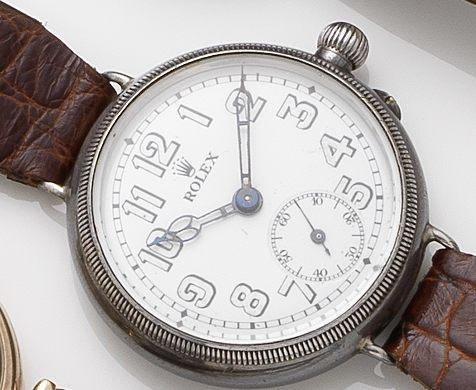 Rolex. A silver Borgel cased manual wind wristwatch Circa 1920