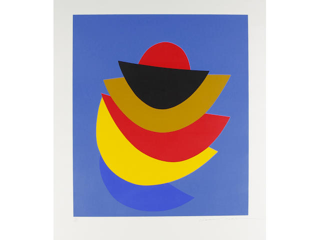 Sir Terry Frost R.A. (British, 1915-2003) Black Moon and Ochre Screenprint printed in colours, 1997, on Arches, signed and numbered 17/125 in pencil, printed by Corriander Studio, London, published by Innocent Fine Srt, Bristol, Anderson O'Day, London and Corriander Studio, London, with full margins, 856 x 724mm (33 3/4 x 28 1/4in)(I)