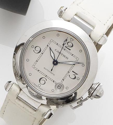 Cartier. A lady's stainless steel automatic calendar wristwatch Pascha, Recent