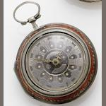 Augspurg. A mid 18th century silver pair case pocket watch