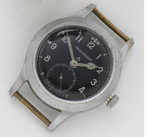 Jaeger-LeCoultre. A stainless steel chrome plated military wristwatch Movement No.318098, Numbered WWWF10516 for British issue, 1940's