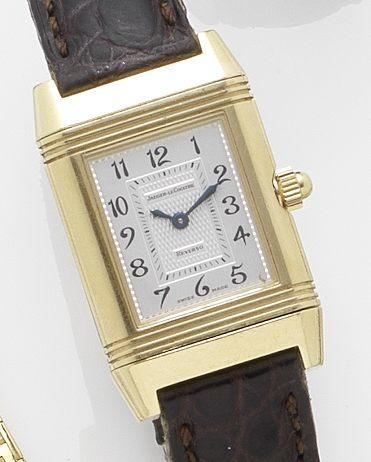 Jaeger Le Coultre. An lady's 18ct gold manual wind wristwatch Reverso Duetto, Ref:266.1.44, Case No.2005920, Recent