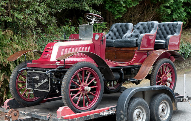 Single ownership for 33 years, four recorded keepers since new,1903 De Dion Bouton 6hp Type Q Four Seater  Chassis no. 5457 Engine no. 14080