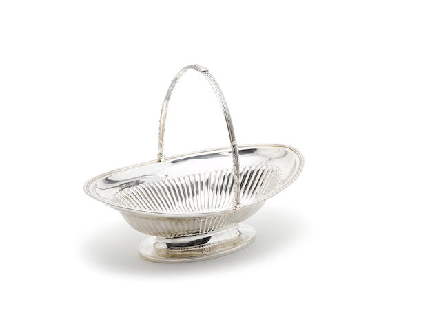 A George III silver swing-handled basket, by Paul Storr, London 1798,