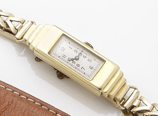 Rolex. A lady's 18ct gold manual wind wristwatchPrincess, Ref:1382, Case No.46524, Circa 1932
