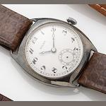 Rolex. A stainless steel manual wind wristwatch 1940's
