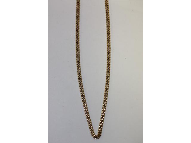 A curb-link chain,